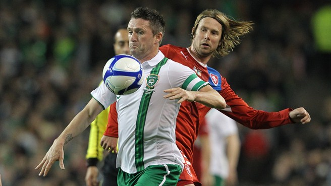 Robbie Keane (Republic of Ireland) & Jaroslav Plašil (Czech Republic)
