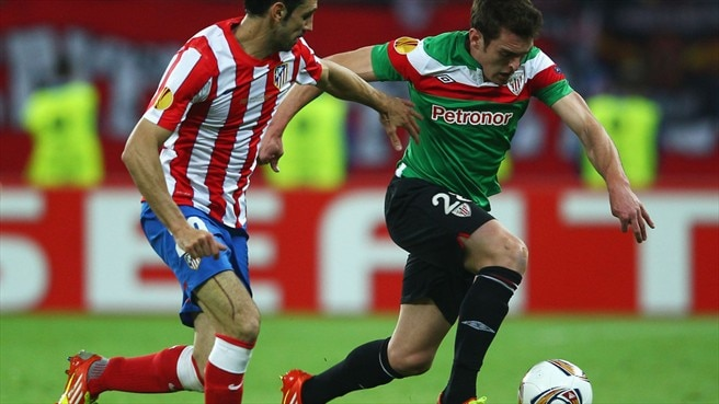 Juanfran (Club Atlético de Madrid) & Ibai Gómez (Athletic Club)