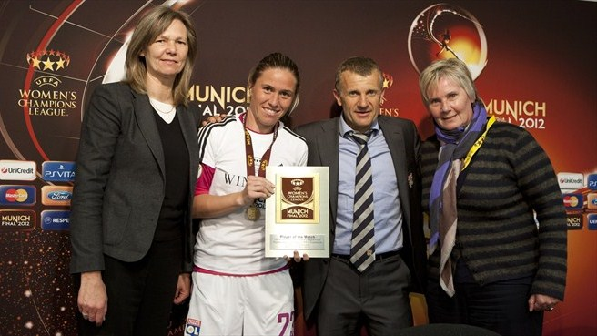 Player of the Match Camille Abily (Olympique Lyonnais)