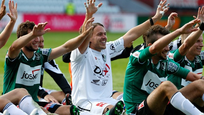 SV Ried players celebrate