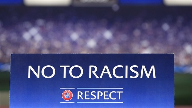 'No To Racism' campaign logo - UEFA Champions League - nav