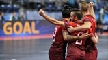 Portugal players celebrate