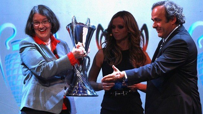 UEFA Champions League trophy handover