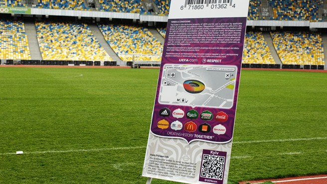 UEFA EURO 2012 ticket design launch in Kyiv