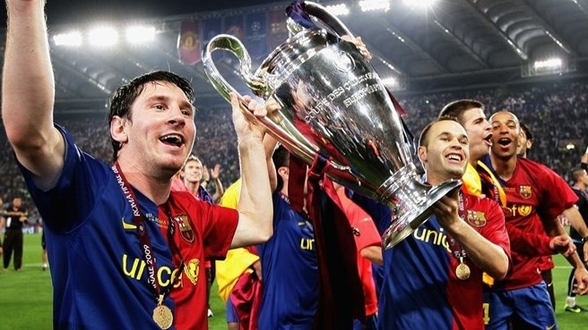 barcelona champions league cups