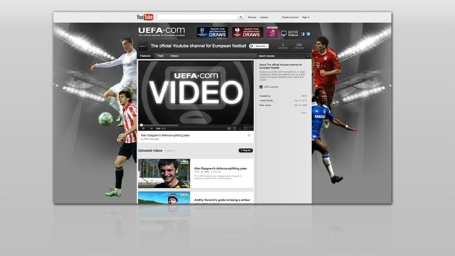 UEFA.com goes YouTube